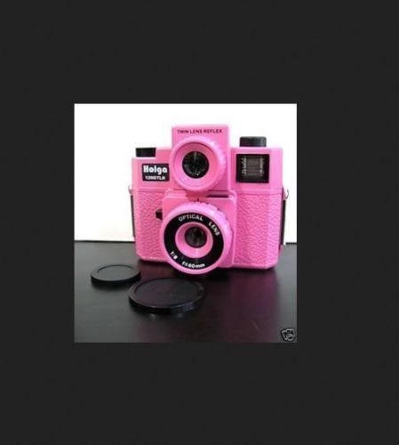 NEW HOLGA 120 GTLR PINK TLR TWIN LENS REFLEX MEDIUM FORMAT CAMERA w/4C FLASH