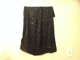 Black Infinity Scarf with Metallic Sequins 100 Percent Viscose image 3