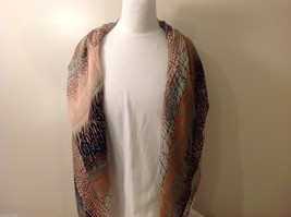 Multi Colored, Mosaic Patterned Scarf, New! image 5