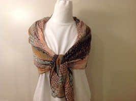 Multi Colored, Mosaic Patterned Scarf, New! image 6