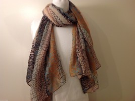 Multi Colored, Mosaic Patterned Scarf, New! image 3
