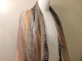 Multi Colored, Mosaic Patterned Scarf, New! image 2