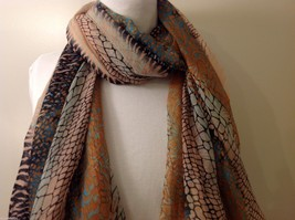 Multi Colored, Mosaic Patterned Scarf, New! image 4