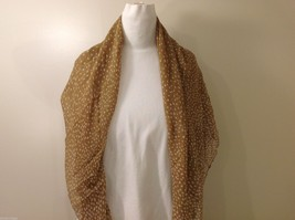 Tan Polka Dotted Scarf, New! image 5