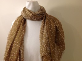 Tan Polka Dotted Scarf, New! image 4