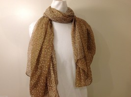 Tan Polka Dotted Scarf, New! image 3