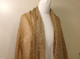 Tan Polka Dotted Scarf, New! image 2