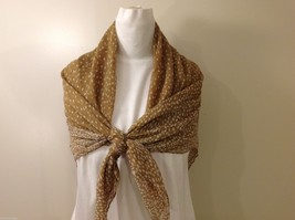 Tan Polka Dotted Scarf, New! image 6