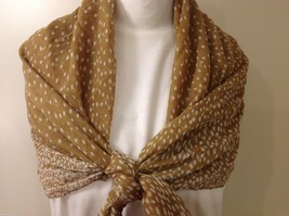 Tan Polka Dotted Scarf, New! image 7