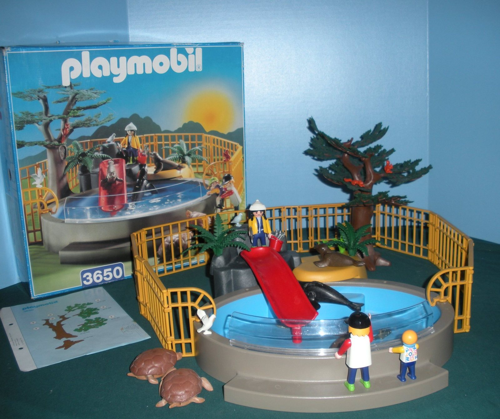 Vintage Playmobil #3650 Seal Aquarium 99.9% Comp. with Box/Near Mint (ret.)! (A)
