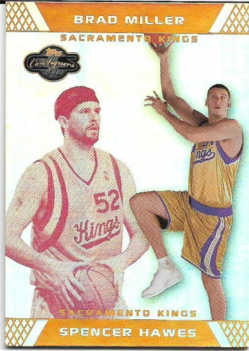 2007-08 TOPPS CO-SIGNERS GOLD #96 SPENCER HAWES RC 4/9 KINGS FREE SHIPPING