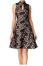 JAX  Women's New Black Lace Keyhole Sleeveless A-Line Dress Size 6 - $21.78