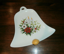 Vintage Atlantic Mold Bell Shaped Serving Dish Plate Candles Flowers Chr... - $14.50