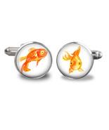 Christmas Gifts for Him -Goldfish Cufflinks - fish cufflinksGifts  for Men - $24.26