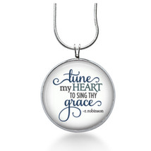 Bible versus - Tune my Heart to sing necklace- song, church, sunday school - $18.32
