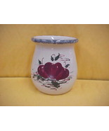 East Texas Hand Made Pottery Small Jar w/Apples Design Casey Pottery - $9.49