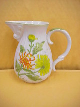Mann's Chrysanthemum Pitcher 1976 Japan see bottom - $9.49