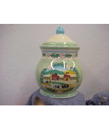 Farm Scene Cookie Jar w/Chicken and Cow Young's Kitchen Creations - $18.69
