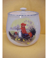 East Texas Hand Made Pottery Bean Pot or Cookie Jar  Chicken & Biddies D... - $23.36