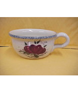 East Texas Hand Made Pottery Apples Soup Mug w/Handle - $17.75