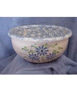 East Texas Hand Made Pottery Large Bowl with Daisies Design Marshall - $28.04
