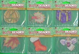 Lot of 6 Different Simply Beaded Iron-on transfers Plaid - $9.04