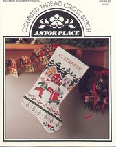 Skaters Waltz Stocking~Counted Cross Stitch Pat... - $3.50
