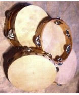 "SIX Church TAMBOURINES Size 8"" CP Brand New Single Row Jingles FREE SHIP... - $72.71"