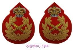 UK British Army Field Marshal General Uniform Rank Badge Crown Queen Pai... - $32.08