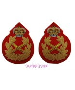 UK British Army Field Marshal General Uniform Rank Badge Crown Queen Pai... - $32.08