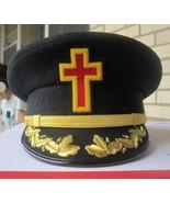 NEW MASONIC REGALIA KNIGHT TEMPLAR HATS - CP MADE - ALL SIZES - FREE SHI... - $99.90