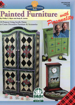 Plaid Paint Furniture w/Personality Book~Rooster Table - $6.35