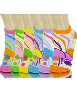ICONOFLASH Children's Printed 6-Pair Bundle Ankle Sock Pack, (Bright Ski... - $10.88