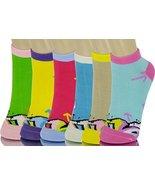 ICONOFLASH Children's Printed 6-Pair Bundle Ankle Sock Pack, (Street Art... - $10.88