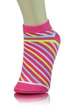 ICONOFLASH Children's Printed 6-Pair Bundle Ankle Sock Pack, (Candy Stripes, ... - $10.88