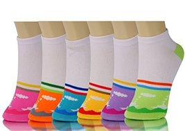 ICONOFLASH Children's Printed 6-Pair Bundle Ankle Sock Pack, (Mini Tug Boats,... - $10.88