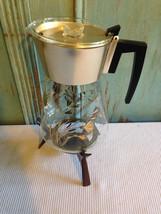 Veg Mid Century Glass Gold Clear Coffee Server ... - $27.69