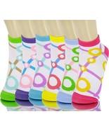 ICONOFLASH Children's Printed 6-Pair Bundle Ankle Sock Pack, (Bubble Gri... - $10.88