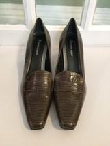 Etienne Aigner Medium Brown Leather Snake Skin ... - $65.44