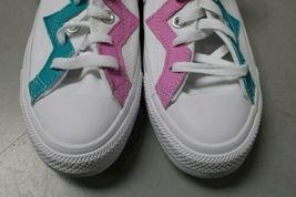 NIB NEW Women sz 8.5 Converse Shoe Sneaker White Teal Peony Box CTAS OX image 3