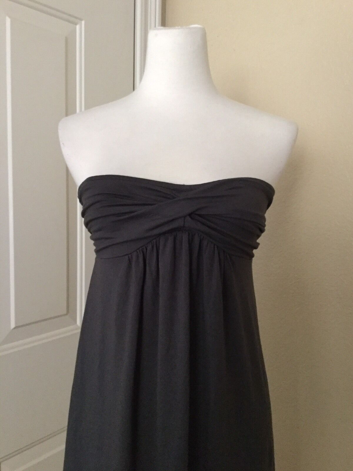 NWT J.CREW Dressy Jersey Strapless Dress in Gray, Size Small image 6