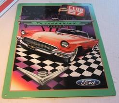 Club 57 Ford Thunderbird V-8 Metal Sign - $12.99