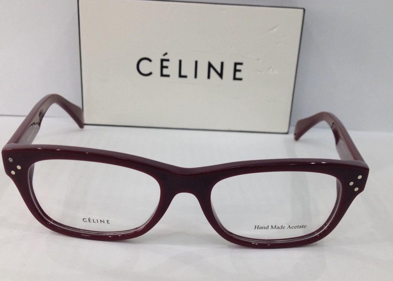 Eyeglass Frame Size 50 : CELINE CL 41323 COLOR LHF RED PLASTIC EYEGLASSES FRAME ...