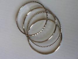 Beautiful,  4-pc Set Silver Bangle Bracelet - $6.60