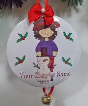 6 Personalized Custom Christmas Ornaments Red Hat Lady Your Chapter Name & Year  - $74.23