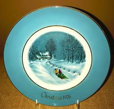 Avon Christmas Plate 1976 Bringing Home the Tree Enoch Wedgwood Third Ed... - $19.99