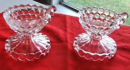 Fenton Coin Glass Candle Holders with Flared Handles - $39.99