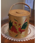 Mid Century Vintage Roosters Bucket Carrier Can... - $33.99