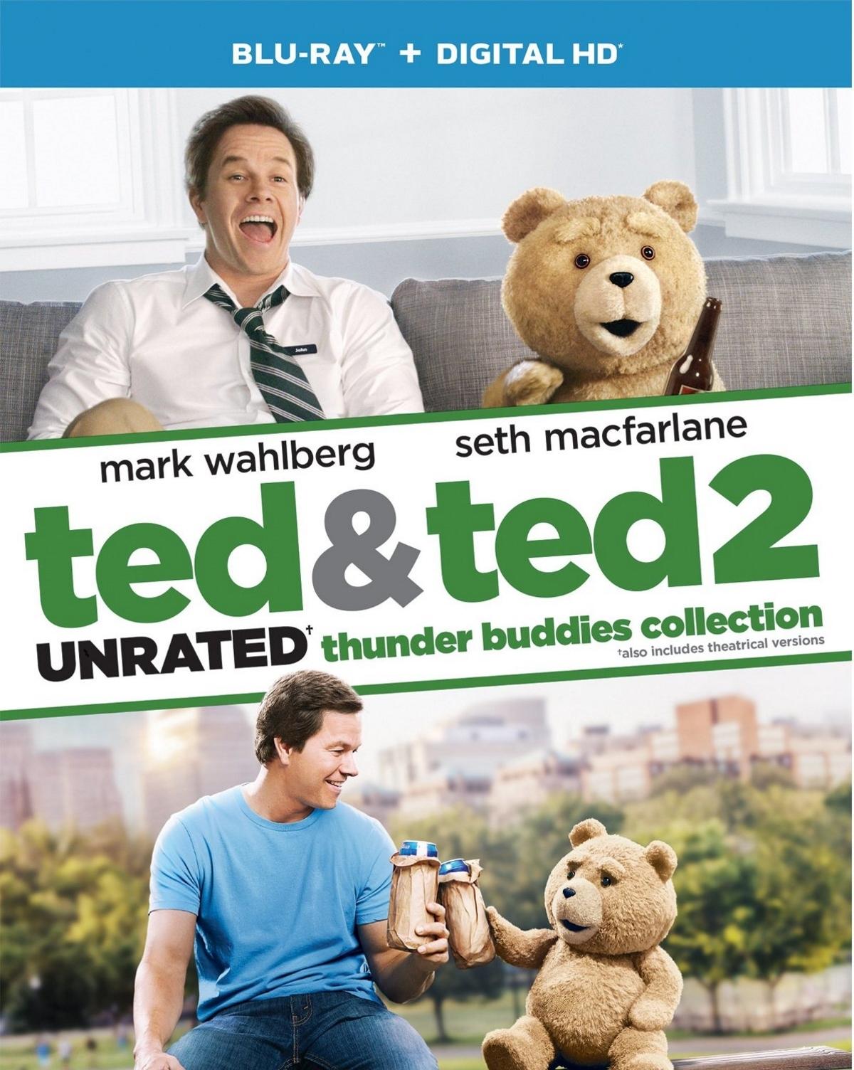 Ted movie 2 pack  blu ray   digital hd   ultraviolet  mark wahlberg macfarlane