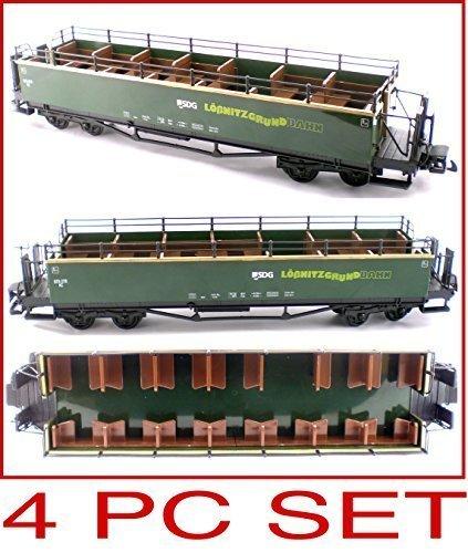 Lobnitzgrundbahn Rail Ways 4pc Set Of Sight Seeing And Observation Cars